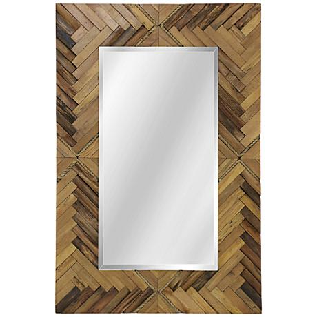 "Woodweave Natural 24"" x 36"" Rectangular Wall Mirror"