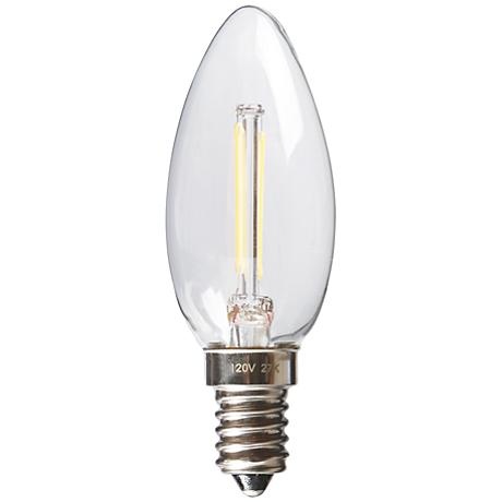Torpedo 2 Watt Dimmable E12 Filament LED Candelabra Bulb