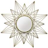 "Skylark Gold 36"" Round Starburst Wall Mirror"