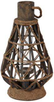 Midway Large Vintage Rope Lantern Votive Candle Holder (9T812) 9T812