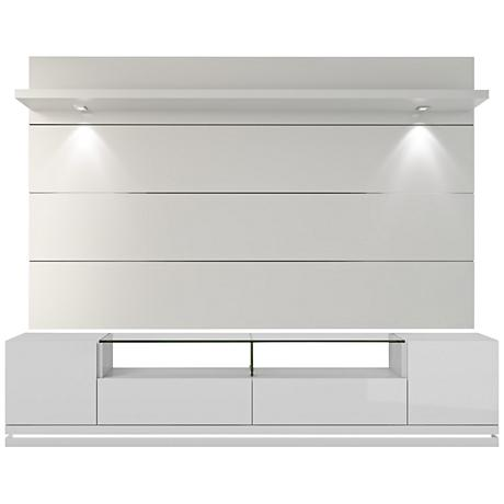Vanderbilt TV Stand w/ Cabrini 2.2 TV Panel in White Gloss
