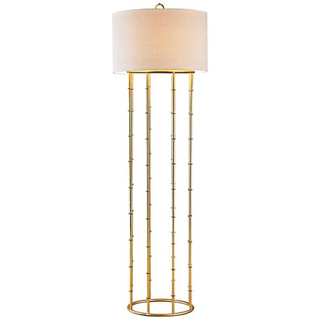 Dimond Brunei Gold Leaf Metal Floor Lamp