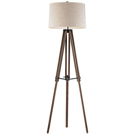 Dimond Silvi Wooden Brace Tripod Floor Lamp