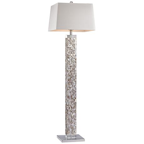 Dimond Castie Mother of Pearl Satin Nickel Floor Lamp