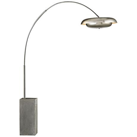 Dimond Berne Satin Nickel Metal Floor Lamp