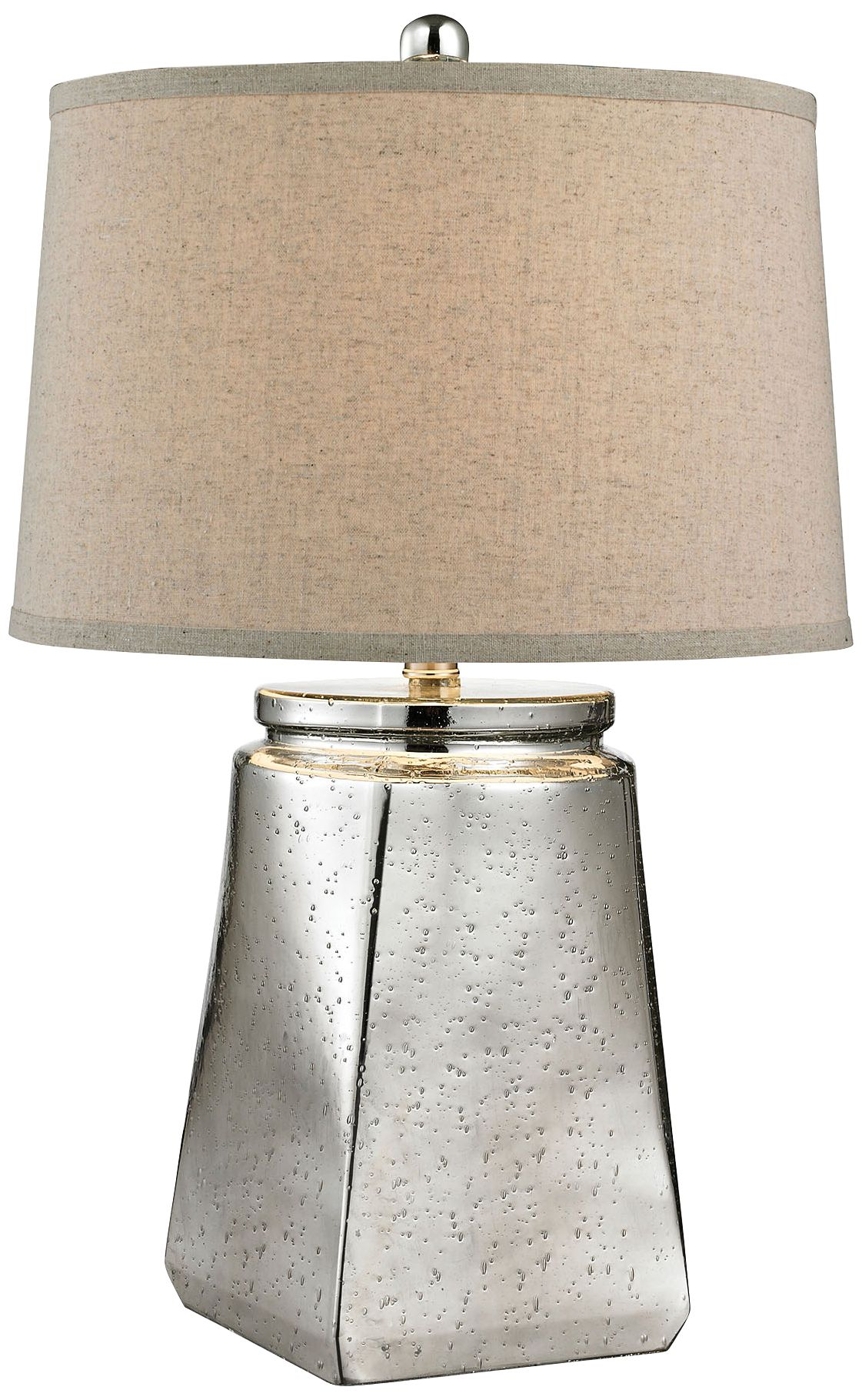 Leds-C4 Ocho Light Online Price Cheap Riya Tapered Square Silver Mercury Glass Table Lamp
