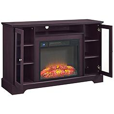 Iggy Espresso Electric Television Cabinet with Fireplace