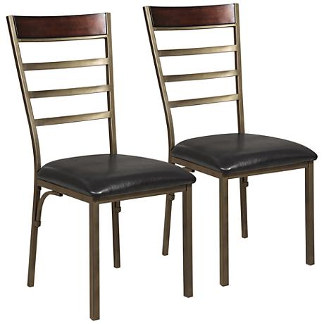 Browning Bronze Metal Side Chair Set of 2