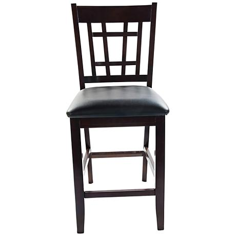 Charleston Espresso Faux Leather Counter Chair Set of 2