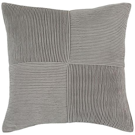 "Surya Conrad Textured Gray 18"" Square Throw Pillow"