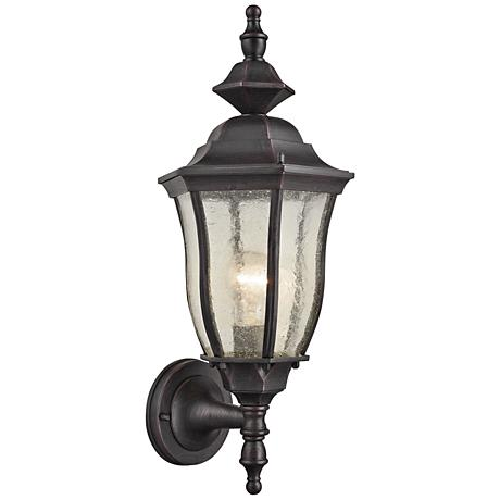 "Bennet 19"" High Graphite Black Outdoor Wall Light"