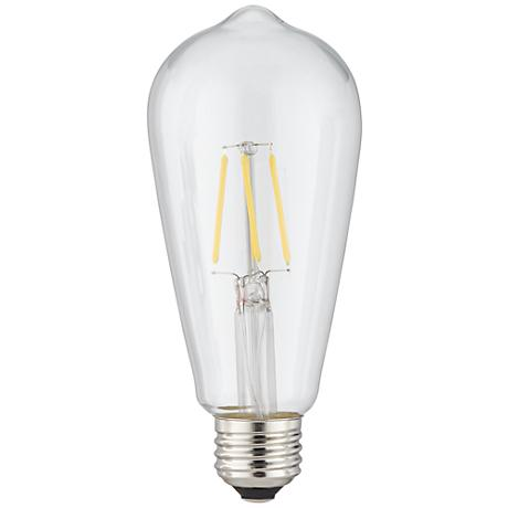 4 Watt Dimmable ST64 Filament E26 Base LED Light Bulb