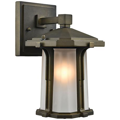 "Brighton 10"" High Smoked Bronze Outdoor Wall Light"