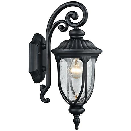 "Derry Hill 17"" High Matte Black Outdoor Wall Light"