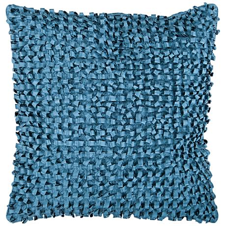 "Surya Andrew Blue 18"" Square Throw Pillow"