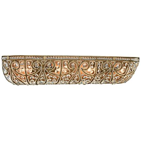 "Elizabethan 27"" Wide Dark Bronze 4-Light Bath Light"