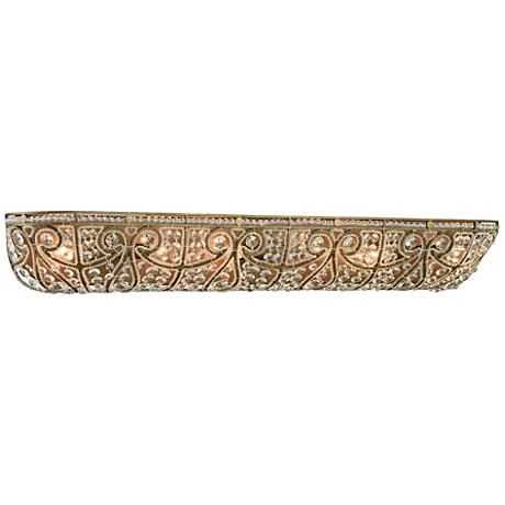 "Elizabethan 36"" Wide Dark Bronze 6-Light Bath Light"