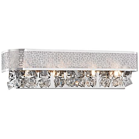 "Nashua 20"" Wide Polished Chrome 4-Light Bath Light"