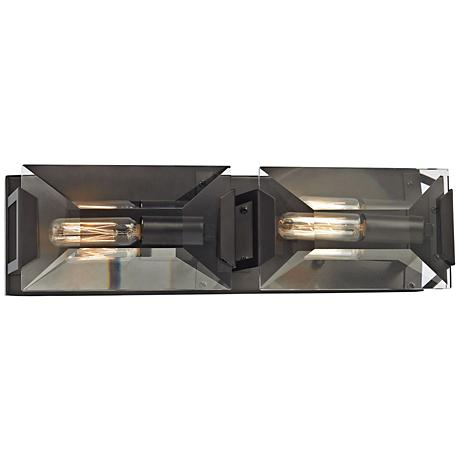 "Garrett 17"" Wide Oil Rubbed Bronze 2-Light Bath Light"