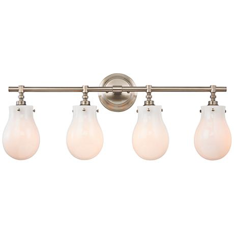 "Jaelyn 29"" Wide Brushed Nickel 4-Light Bath Light"