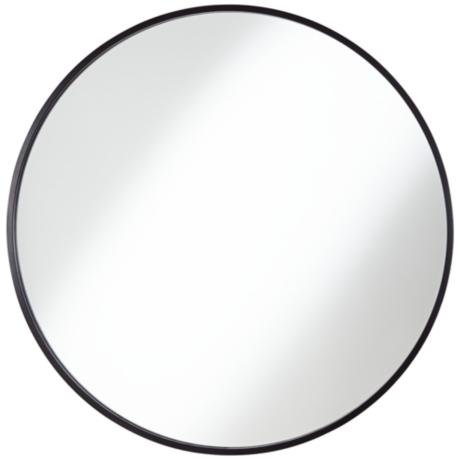 Junia Matte Black 34 Quot Round Wall Mirror 9w138 Www
