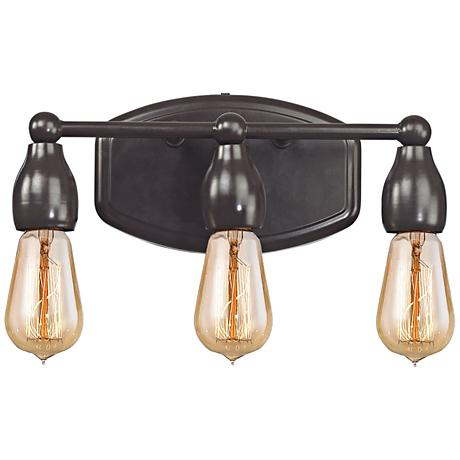 "Vernon 12"" Wide Oil Rubbed Bronze 3-Light Bath Light"