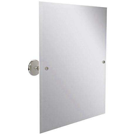 "Prestige Monte Carlo 21 3/4""x 25"" Satin Nickel Mirror"