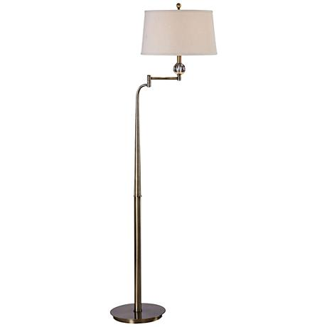 Uttermost Melini Tapered Steel Swing Arm Floor Lamp