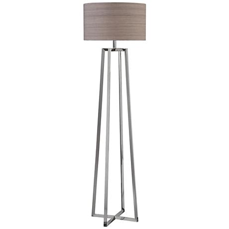 Uttermost Keokee Polished Nickel Triangular Floor Lamp