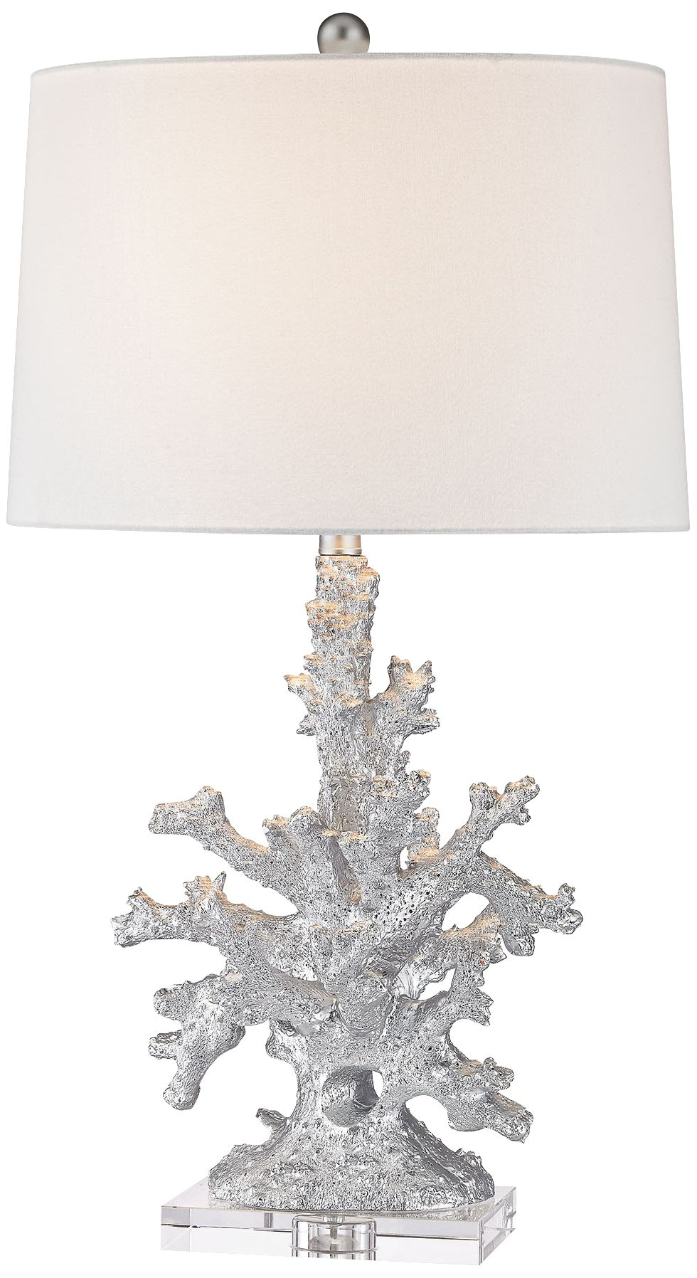 Marylin Pendant Store Cheap Dimond Trunk Bay Silver Faux Coral Table Lamp