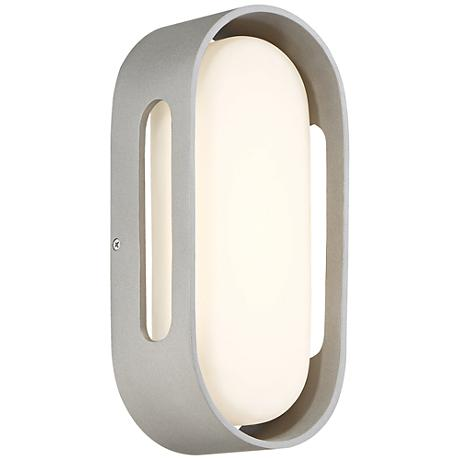 "George Kovacs Floating Oval 11""H LED Silver Wall Sconce"