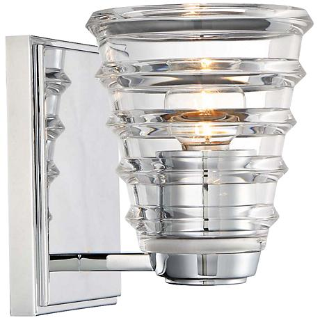 "George Kovacs Arctic 6 3/4"" High Chrome Wall Sconce"