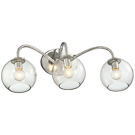 "George Kovacs Exposed 3-Light 21 3/4""W Chrome Bath Light"