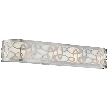 "George Kovacs Links 4-Light 32"" Wide Nickel Bath Light"
