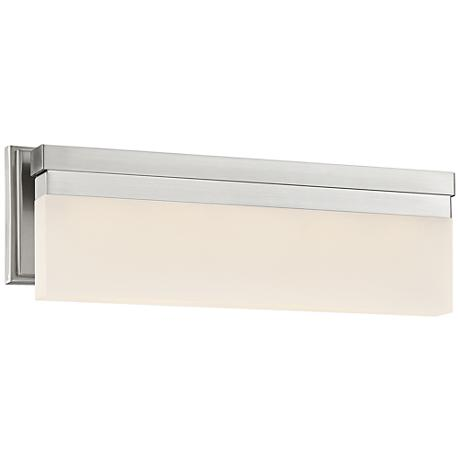 George Kovacs Skinny 17 Quot Wide Led Brushed Nickel Bath