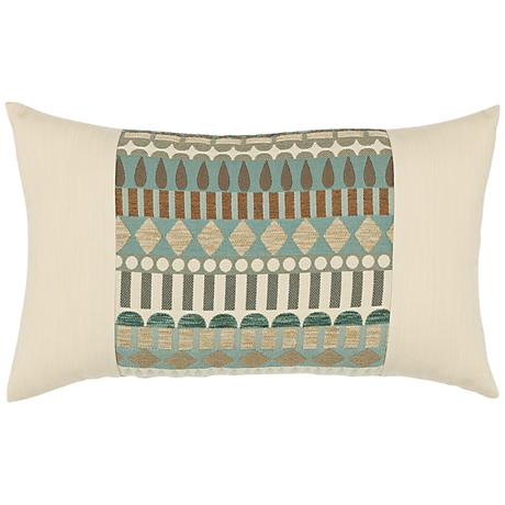 "Elaine Smith Spa Deco 20""x12"" Indoor-Outdoor Pillow"