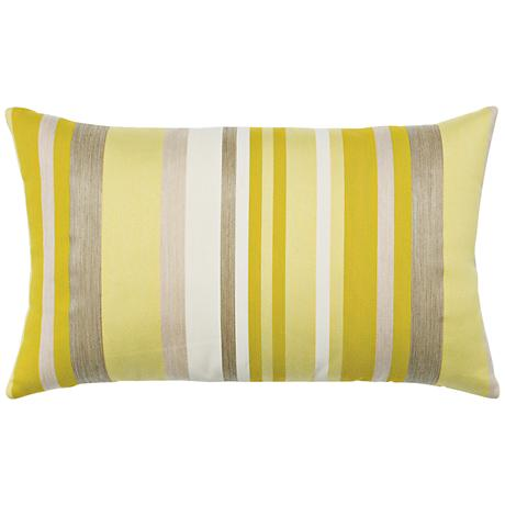 "Elaine Smith Citrine Stripe 20""x12"" Throw Pillow"