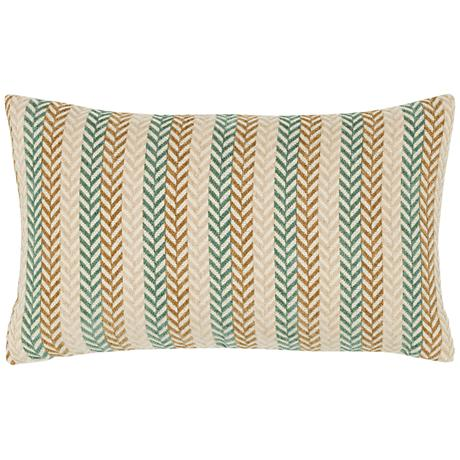 "Plush Plume Spa 20""x12"" Lumbar Indoor-Outdoor Pillow"