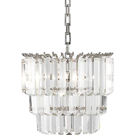 "Robert Abbey Spectrum 12 1/4""W Polished Nickel Pendant Light"