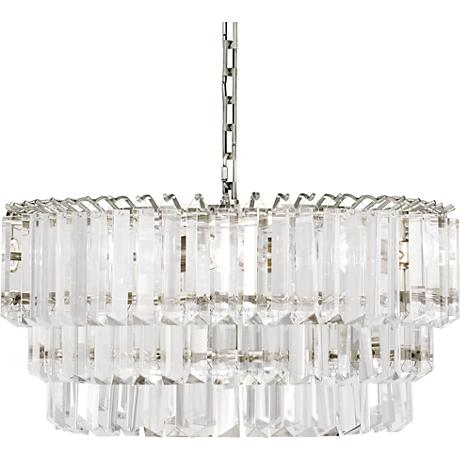 "Robert Abbey Spectrum 20""W Polished Nickel Medium Chandelier"
