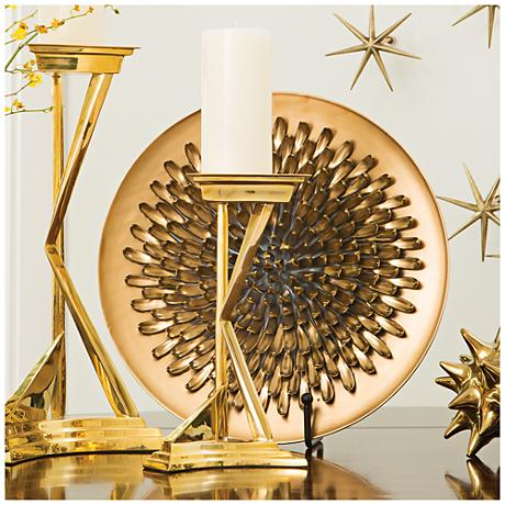 Chrysanthemum Matte Gold Ceramic Charger