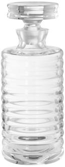 Baccarat Tall Clear Glass Ribbed Decanter Barware (9W924) 9W924