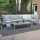 Vasara Gray All-Weather 4-Piece Patio Conversation Set