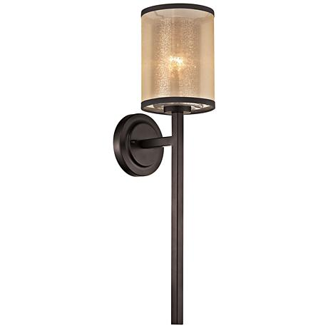 "Diffusion 24"" High Oil Rubbed Bronze 1-Light Wall Sconce"