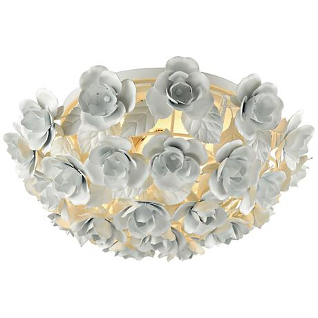"Bouquet 16"" Wide Matte White 2-Light Ceiling Light"
