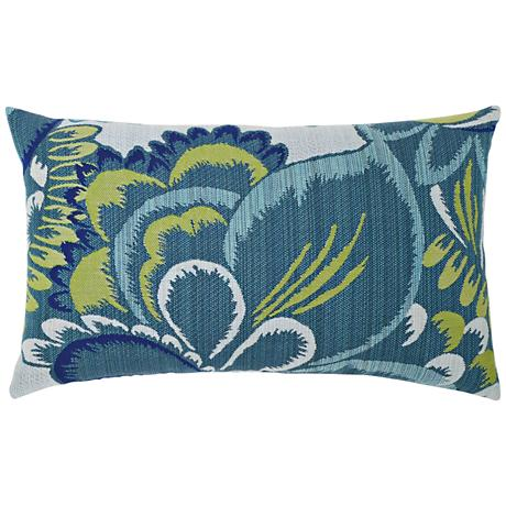 "Floral Wave 20""x12"" Lumbar Indoor-Outdoor Pillow"