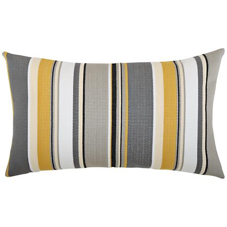 "Shadow Stripe 20""x12"" Lumbar Indoor-Outdoor Pillow"
