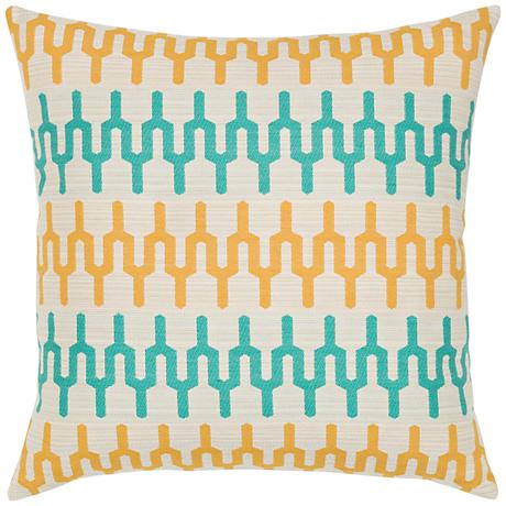 "Elaine Smith Aruba Path 20"" Square Indoor-Outdoor Pillow"