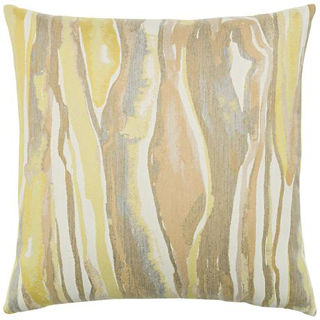 "Elaine Smith Bark Citrine 20"" Square Indoor-Outdoor Pillow"