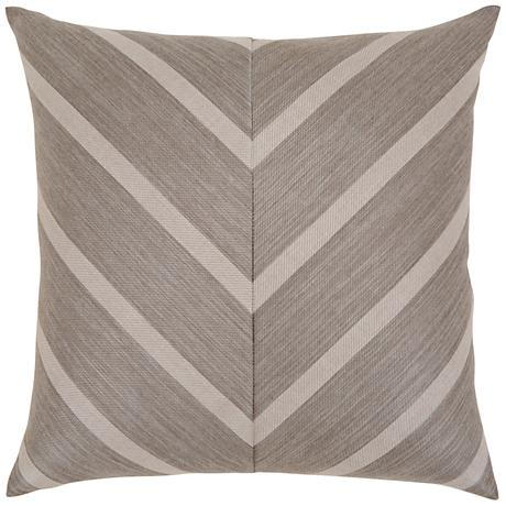 "Sparkle Chevron 20"" Square Indoor-Outdoor Pillow"